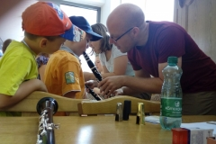 Kinder mit Klarinette