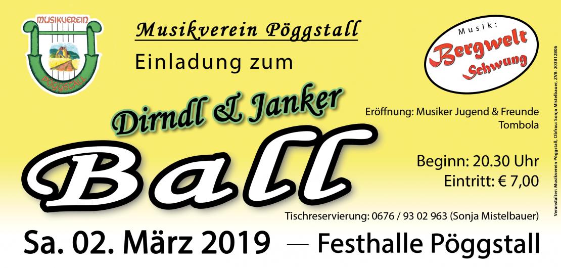 Flyer Dirndl & Janker Ball 2019