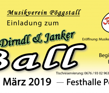 Flyer Dirndl & Janker Ball 2019