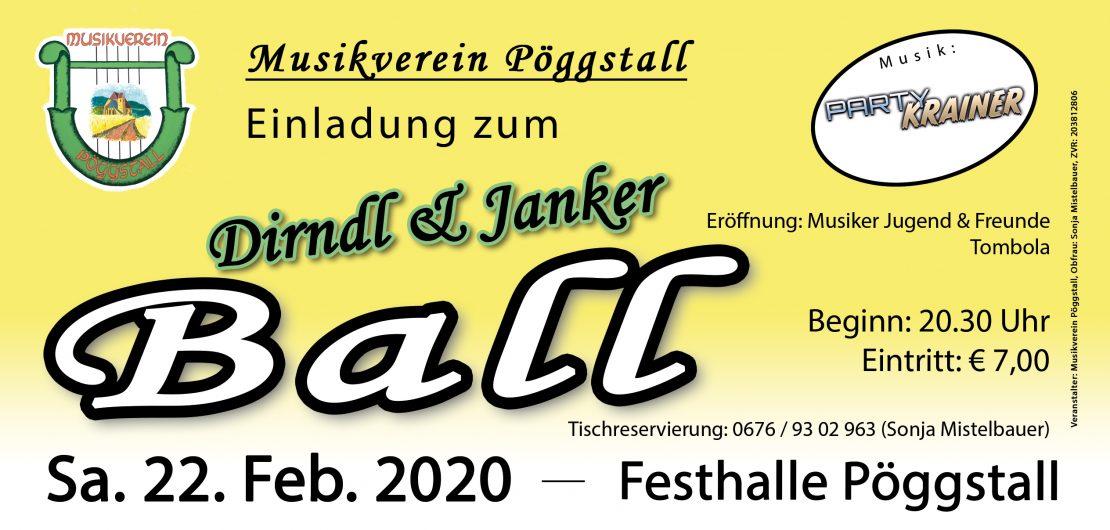 Flyer Dirndl & Janker Ball 2020
