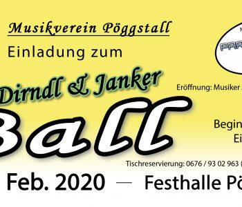 Flyer Dirndl & Janker Ball 2020