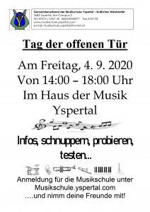 Tag der offenen Tür im Haus der Musik in Yspertal 2020